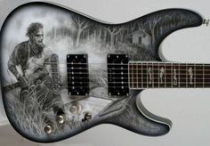 Sic airbrushed Leatherface guitar! Artwork (By Maranoart) #DjASHBA