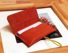 Pink Leather Cardholder DIY
