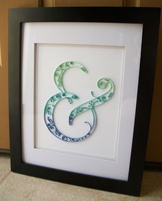Quilled Paper Ampersand Wall Art  Custom by vanhoosedesign on Etsy, $40.00