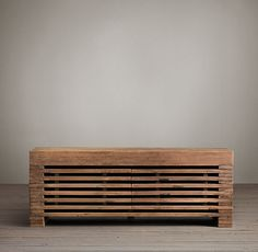 Reclaimed Timber Slat Media - Livingroom - 2050/480/530 - restorationhardware.com