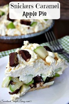Snickers Caramel Apple Pie Recipe! NO BAKE!!