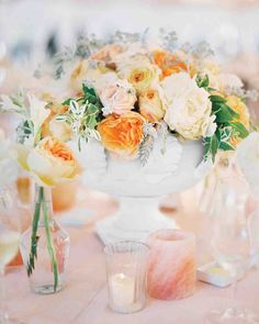 23 Totally Chic Vintage Centerpieces | Martha Stewart Weddings
