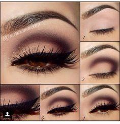 Eye Makeup Tips.Smokey Eye Makeup Tips - For a Catchy and Impressive Look Beautiful Eye Makeup, Pretty Makeup, Love Makeup, Makeup Inspo, Makeup Inspiration, Makeup For Black Dress, Purple Makeup, Purple Eyeshadow, Makeup Goals