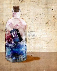 Tardis in a Bottle - Doctor Who Doctor Who Fan Art, Doctor Who Quotes, Virginia Woolf, Serie Doctor, Don't Blink, Geek Out, Matt Smith, Dr Who, Tattoos For Guys