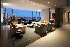 two-storey Hyde Park penthouse interior design