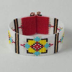 Native American Bull's Eye Bead Loom Bracelet by PuebloAndCo, $16.99