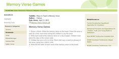 Memory Verse Games