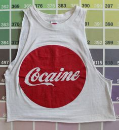 Vintage 1960s Cocaine shirt rare Coca-Cola tank by WizardNixon