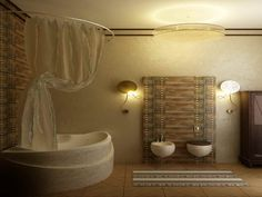 Comfortable bathroom interior decorating ideas, contemporary bathtub, lovely wash basin, wooden wardrobe, wall paper, curtain, carpet and tiles flooring  http://www.urbanhomez.com/ http://www.urbanhomez.com/construction/wash_basin_and_toilet_seats http://www.urbanhomez.com/suppliers/modular_kitchen,_fittings_and_accessories/bangalore http://www.urbanhomez.com/suppliers/modular_kitchen,_fittings_and_accessories/mumbai http://www.urbanhomez.com/suppliers/interior_designer/chennai?