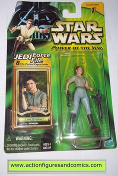 star wars action figures PRINCESS LEIA ORGANA general endor 2000 power of the jedi hasbro toys moc mip mib