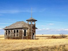 Old School House in Fresno, Montana