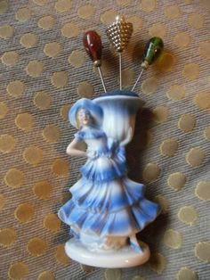 China Lady hatpin Holder with Three Hatpins | eBay