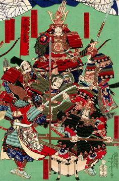 Samurai Drawing, Samurai Tattoo, Samurai Art, Samurai Warrior, Japan Country, Japanese Symbol, Traditional Japanese Art, Japanese History, Kuniyoshi