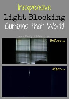 "Inexpensive light blocking curtains that work! Looking for a little more sleep and a little less light in you or your children's bedrooms? You don't have to pay a ton for light blocking panels. curtains Inexpensive ""Light-Blocking"" Curtains That Work"