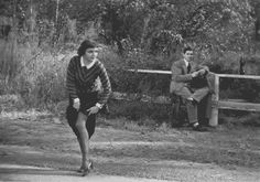 Claudette Colbert and Clark Gable. #For it's era this was a racy hitch hike scene. Which explains Clark's response.