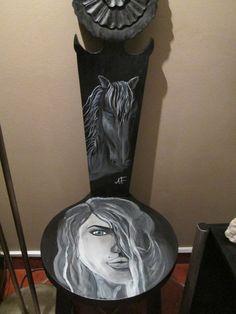 cadeira exotica pintada !!