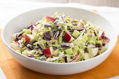 Need a make-ahead salad recipe for an upcoming party? This Mediterranean Bean Salad is worth a try. Prepare this bean salad ahead of time, then toss in the cheese before serving - how's that for effortless entertaining? Coleslaw, Types Of Cabbage, Make Ahead Salads, Charcuterie And Cheese Board, Slaw Recipes, Cabbage Slaw, Feta Salad, Kraft Recipes, Healthy Eating Tips