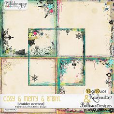 COSY & MERRY & BRIGHT | shabby overlays by Kawouette & Bellisae