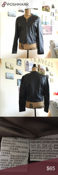 """Liz Wear Leather jacket This jacket is über soft!!!  Perfect to wear with some jeans, tall boots and a scarf!!  Jacket is fully lined.  Measures 17"""" pit to pit flat laid and is 20"""" in length.  031116 Liz Claiborne Jackets & Coats"""