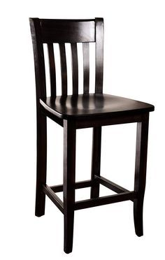 Beechwood Mountain Solid Beech Wood Counter Stool in Black for Kitchen & Dining Extra Tall Bar Stools, Wood Counter Stools, Kitchen Dining, Countertops, Mountain, Table, Furniture, Black, Home Decor
