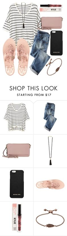 """""""Love love love"""" by jadenriley21 ❤ liked on Polyvore featuring MANGO, Wrap, Kate Spade, Rosantica, MICHAEL Michael Kors, Jack Rogers and Kendra Scott"""