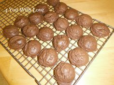 4 You With Love: 1-1-1 Brownie Cookies