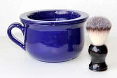 Bule de Barbear    Peça exterior:  Altura 10cm  Largura 16cm    Peça interior:  diâmetro superior 11cm  diâmetro da base 4cm R$ 75,00