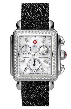 MICHELE 18mm Glitter Watch Strap | Nordstrom