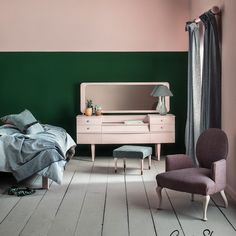 Green bedroom paint chalk paint bedroom ideas pink and green bedroom painted in chalk paint and wall paint by chalk paint wall ideas green wall color scheme Green Bedroom Paint, Pink Bedroom Decor, Pink Bedrooms, Bedroom Colors, Pastel Bedroom, Bedroom Ideas, Colourful Bedroom, Pink Bedroom Walls, White Bedroom