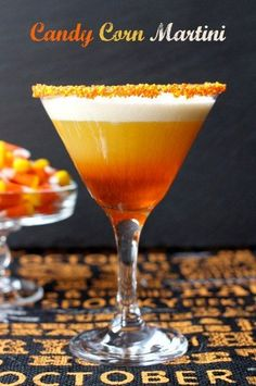This Candy Corn Martini is WAY too delicious to save for Halloween! This layered martini tastes just like liquid boozy, candy corn! Thanksgiving Dinner Recipes, Thanksgiving Side Dishes, Thanksgiving Turkey, Thanksgiving Casserole, Vegetarian Thanksgiving, Hosting Thanksgiving, Recipes Dinner, Appetizer Recipes, Dessert Recipes