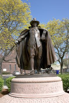 The Puritan, Springfield, MA One of my G-G-Grandfathers! Really! He was a founding father if Springfield, MA