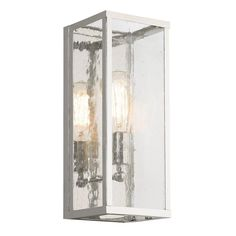 Add a vintage touch to your bathroom decor with this one-light wall sconce. This unit comes with six shades, either seedy glass or opal etched, giving you the freedom to enhance your environment easily.