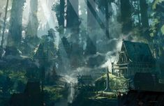 Everything You Need to Know about the 5th Edition D&D Player s Handbook Fantasy concept art Elven city Fantasy landscape