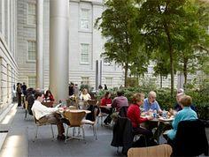 The Courtyard Café - Kogod Courtyard Courtyard Restaurant, Courtyard Cafe, Foster Partners, National Portrait Gallery, Urban Design, American Art, The Fosters, Paths, Street View