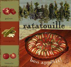 Ratatouille  Digital Download Art kitchen art food vintage