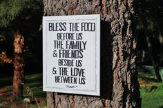 """So perfect for my Dining room!  16x20  """"Bless the food family friends..."""" Hand stamped/hand drawn by Houseof3"""