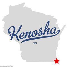 images+of+kenosha+wi | Map of Kenosha Wisconsin WI