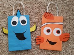 Finding Nemo (Dory & Nemo) Party Favor/Gift/Goodie Bags! by PartyRockinEvents on Etsy https://www.etsy.com/listing/185545922/finding-nemo-dory-nemo-party