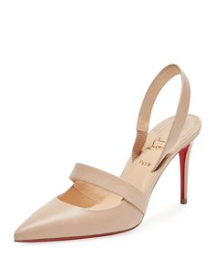 CHRISTIAN LOUBOUTIN ACTINA CUTOUT RED SOLE PUMP. #christianlouboutin #shoes #