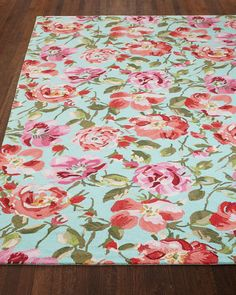 This rug runner in bright floral is amazing. Dash & Albert Rug Company Rose Parade Rug