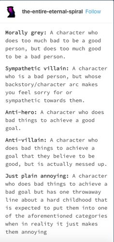 writing villains, writing help