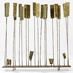 "bronze sculpture, 29 5/8"" tall, Harry Bertoia, 1970"