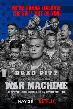 Anthony Michael Hall, Daniel Betts, Topher Grace, Anthony Hayes, and John Magaro in War Machine (2017)