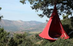 The Cacoon hanging tent is part hammock, part tent, and the perfect indoor/outdoor cocoon that can travel wherever you go. Cacoon Hammock, Outdoor Hammock, Outdoor Gear, Indoor Outdoor, Hammocks, Outdoor Stuff, Camping And Hiking, Camping Survival, Nest Chair