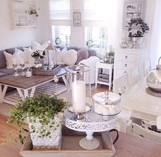 Living Room Decor, Living Rooms, Sweet Home, Shabby Chic, Table Decorations, Luxury, House, Inspiration, Furniture