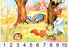 "Izgul téma Set ""Ősz"" Preschool Puzzles, Montessori Kindergarten, Preschool Learning Activities, Autumn Activities, Preschool Activities, Activities For Kids, Bird Crafts, Math Numbers, Educational Toys For Kids"