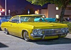 One of my favorite rides,hands down! One of my favorite rides,hands down! 1966 Chevy Impala, Donk Cars, Lowrider Art, Yellow Car, Old School Cars, Nissan Skyline, Ford Models, Custom Cars, Dream Cars