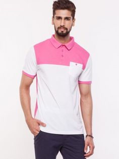 KOOVS Contrast Yoke Polo buy from koovs.com Mens Polo T Shirts, Polo Shirt, Tshirts Online, Contrast, Mens Tops, Stuff To Buy, Fashion, Moda, Polos