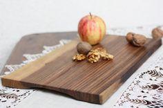 Walnut cutting board organic serving tray by JaraKacaHandmade Cut Block, Serving Board, Wooden Crafts, Butcher Block Cutting Board, Eco Friendly, Tray, Organic, Dining, Wood Crafts