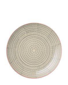 1f8202a532df43 Cécile Speiseteller Muster 5 grau rosa Schönes Geschirr